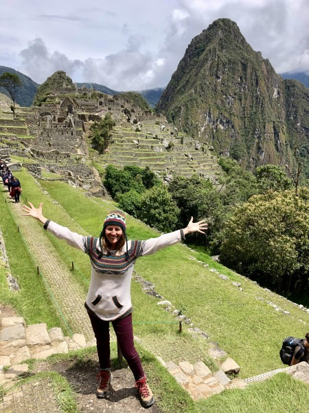 Welcoming Macchu Picchu with open arms!
