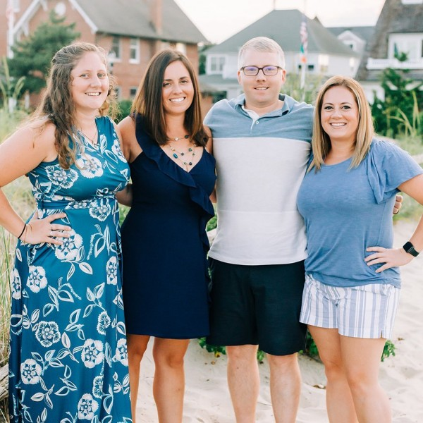 Shane with his sisters Kelsey, Megan, and Tierney