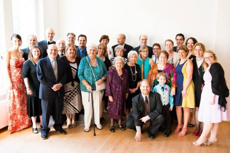 Our families at wedding