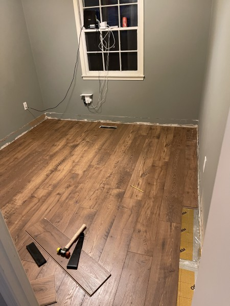 Floor is almost done