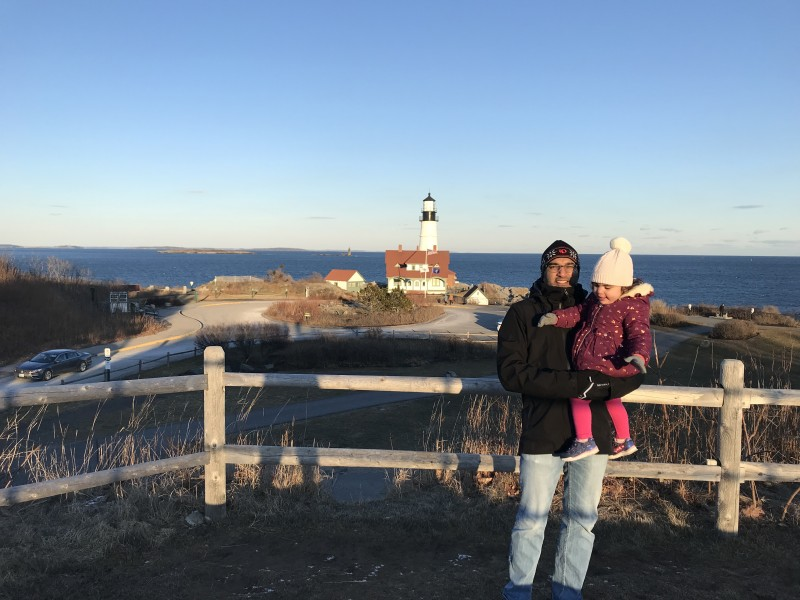 Visiting a lighthouse