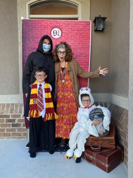 We had an epic Harry Potter Halloween party! Reading the books was a huge highlight of our quarintine.