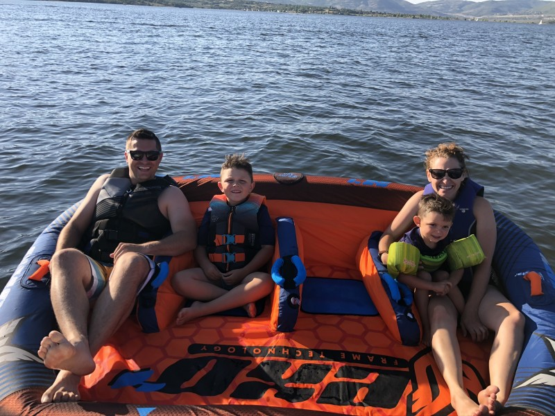 Boating is something we LOVE to do. We both grew up boating and have loved taking our kids on our adventures.