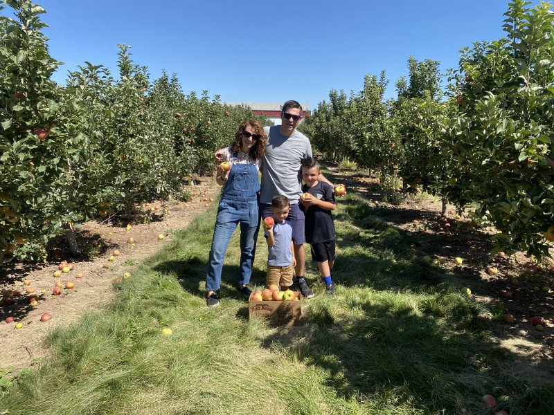 We went apple picking for the first time in Fall of 2020 it was so fun! Our boys have a a deep love for honey crisp apples. Picking our own was a huge treat.