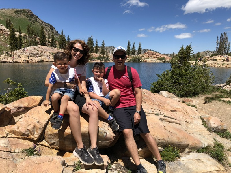 We love hiking together as a family. Utah has endless hiking and we are so grateful for it.