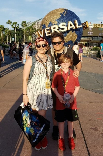 paul, heather and parker at universal studios