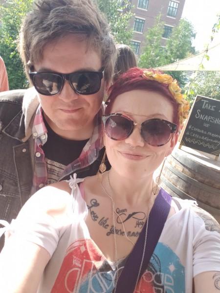 Paul & Heather at an Art Festival
