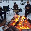 An outdoor COVID Christmas