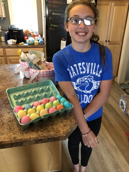 Emma's colored Eggs