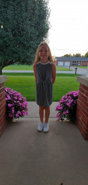 Lydia - First day of 1st Grade