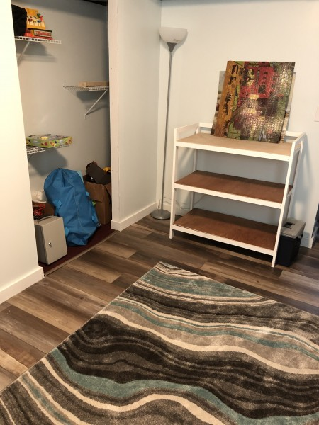 Changing table built with love by Kevin; Need to add changing pad and fabric