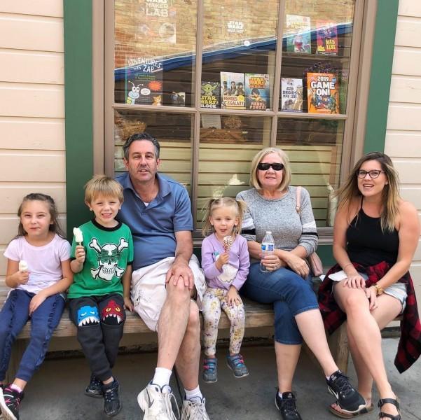 Matt's parents and the other grandchildren