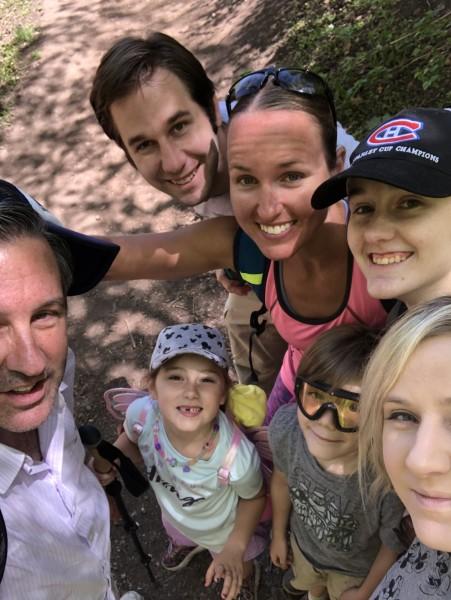 Matt's family hike