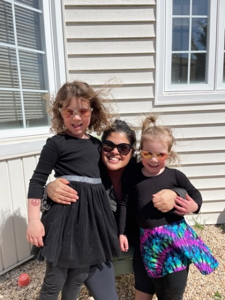Spring time in NY with 2 of our many nieces! Sunglass sisters!