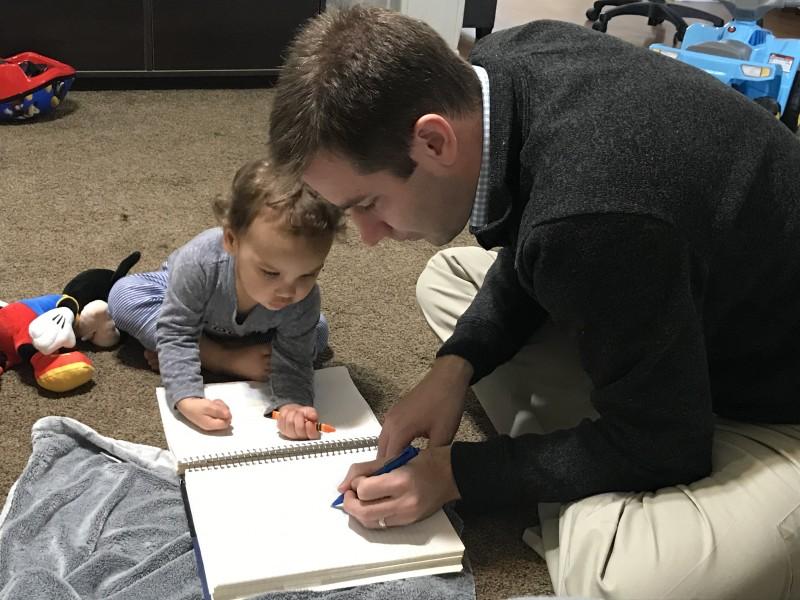 Matt drawing with Zion
