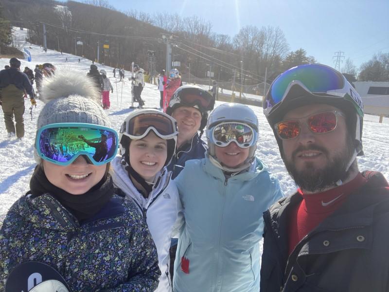 Kate & Seamus on a ski trip