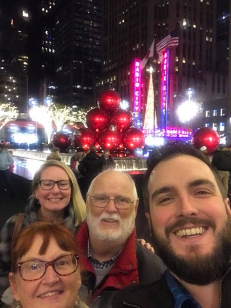 Kate and Seamus with Seamus' parents sightseeing in NYC