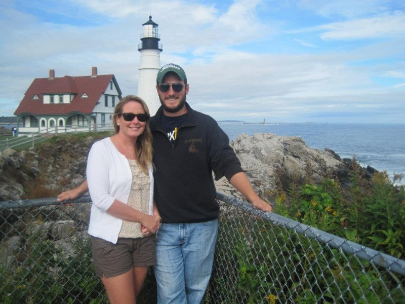 Kate and Seamus sightseeing in Maine