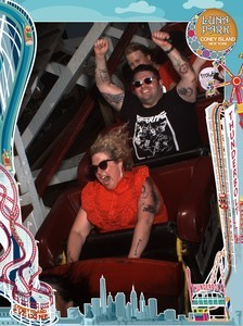 on the Cyclone at Coney Island