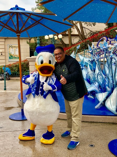 Mark's favorite character is Donald Duck