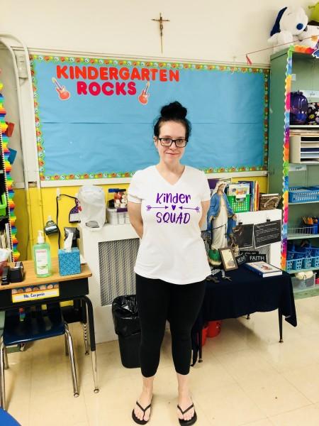 Megan in the classroom
