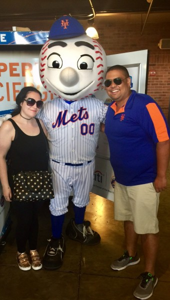 At the Mets game