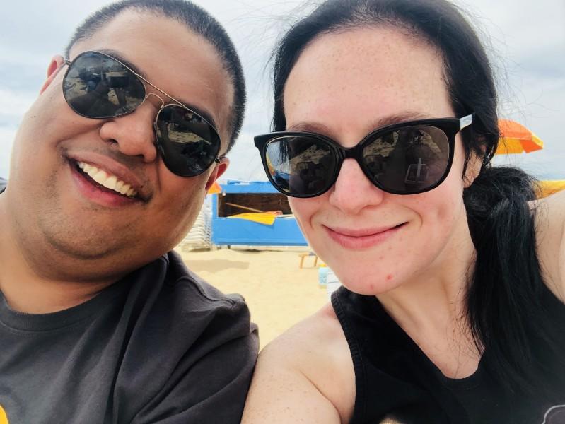 At the beach in Ocean City