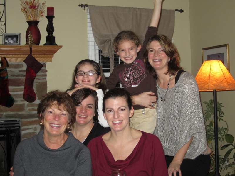 Lyn and her family at Thanksgiving.