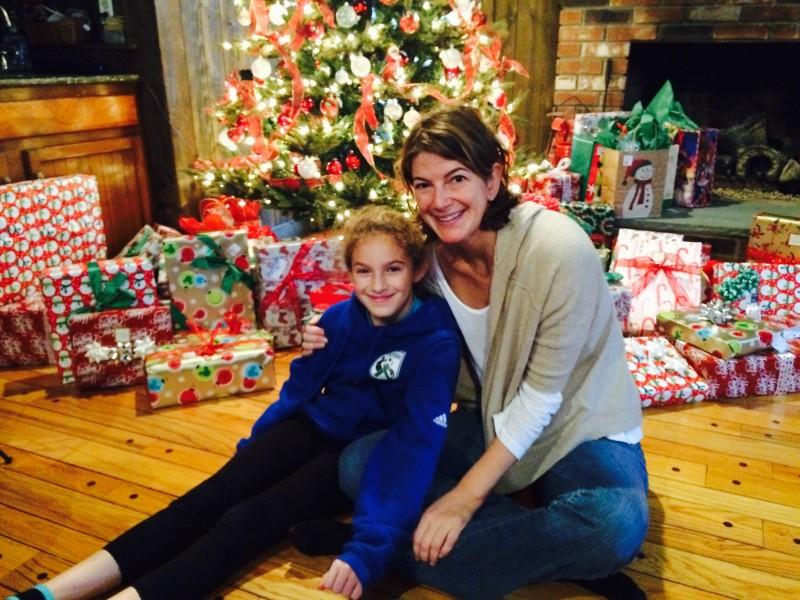 Lyn and Emma on Christmas morning.