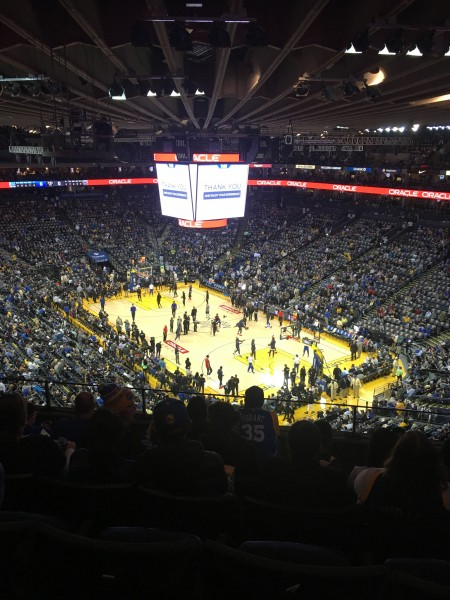 The last Warriors game we attended at Oracle Arena. No bad seat in the house!