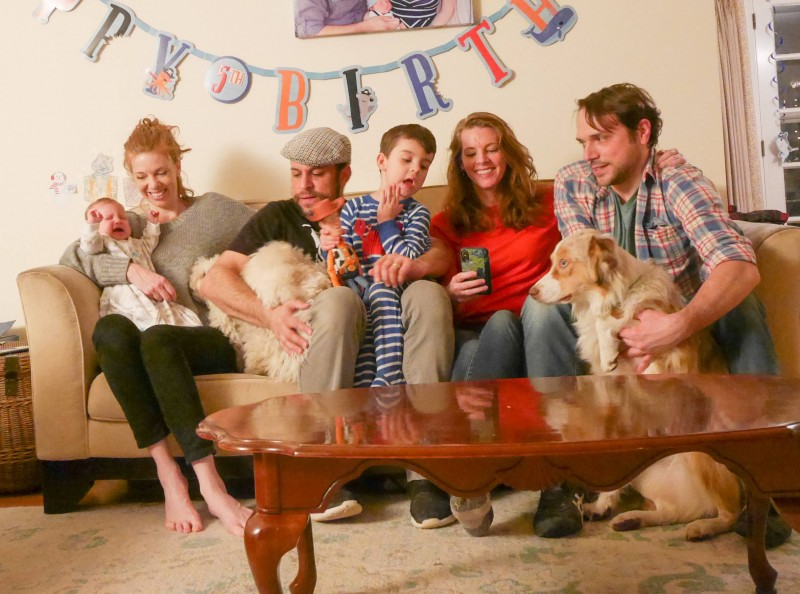 Typical family photo... with no one looking. Tamara's sister's family is always around and we love it!