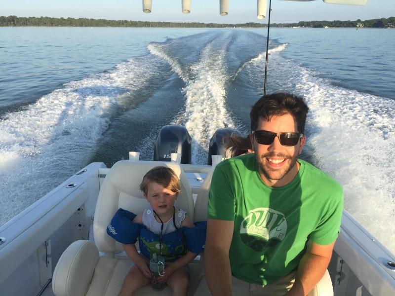 Boating with our nephew jb