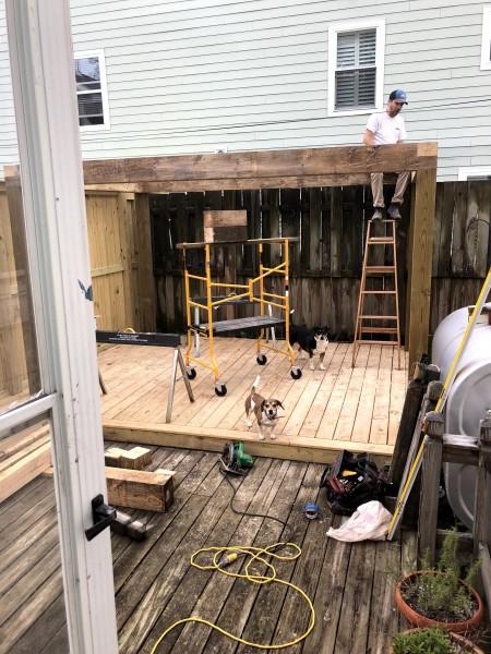 Building our pergola