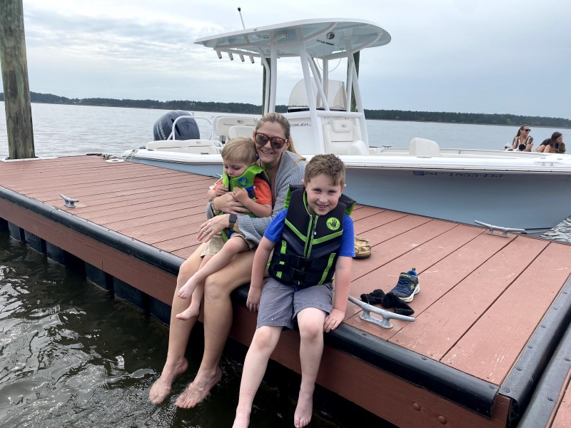 Dock time with our nephews