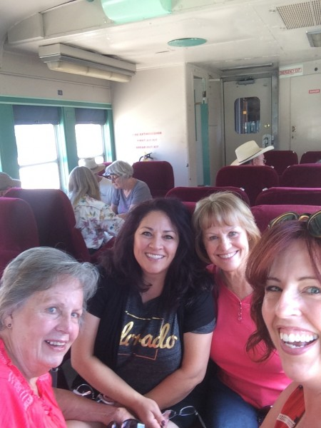 Exploring Colorado with my Aunt Cheryl, cousin Trish & Mom on a mountain train trip