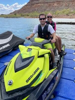 Jet skiing for Matt's bi