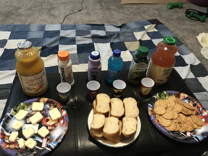 """Snacks and juices for Avengers """"drinking game"""""""