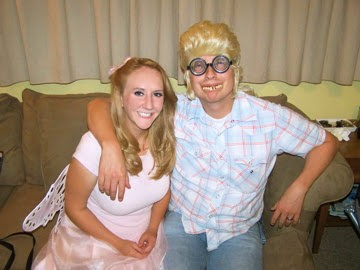 Pink fairy and Billy Bob, the perfect couple.