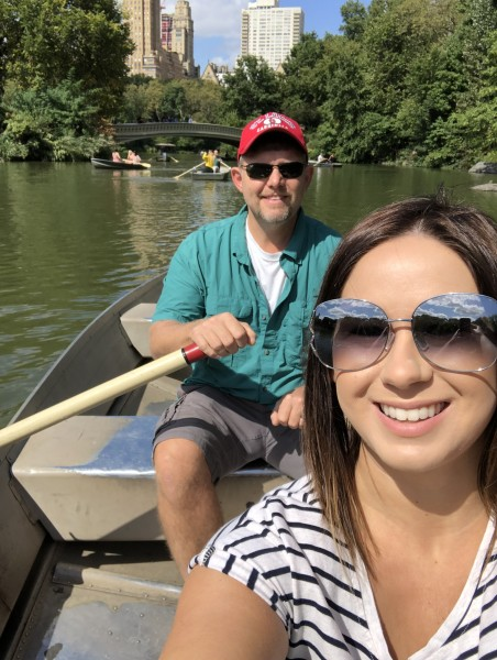 Boat ride through central park on Rachel's birthday!