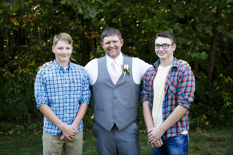 Josh, Jake and Sy on our wedding day!