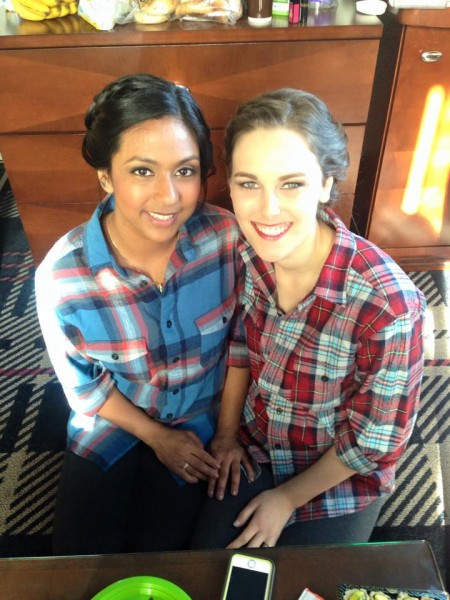 Kristin with her best friend