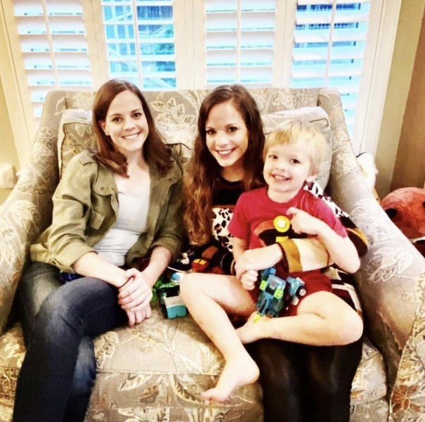 Laura with her twin and nephew, Oliver