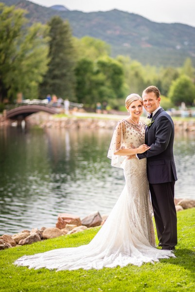 We loved the beautiful backdrop of the Colorado mountains.