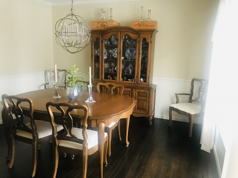Our dining room - this is where we celebrate special holiday meals.