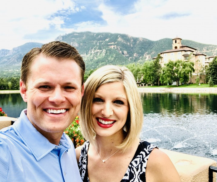 Our first day as Mr. & Mrs. in Colorado Springs, Colorado.