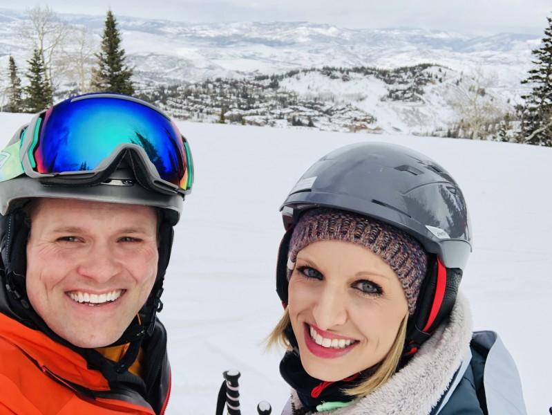 Skiing in Park City, Utah.