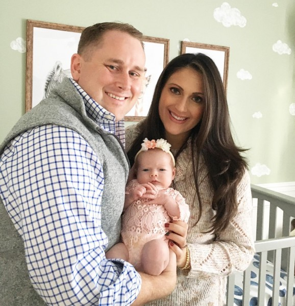 Andrew's brother and sister-in-law with their daughter, born in November 2020.