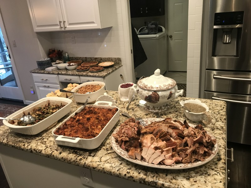 We hosted Thanksgiving for both of our families, Andrew smoked a delicious turkey!