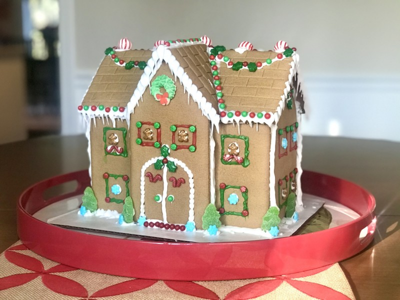 A new tradition started - our 2020 gingerbread house.