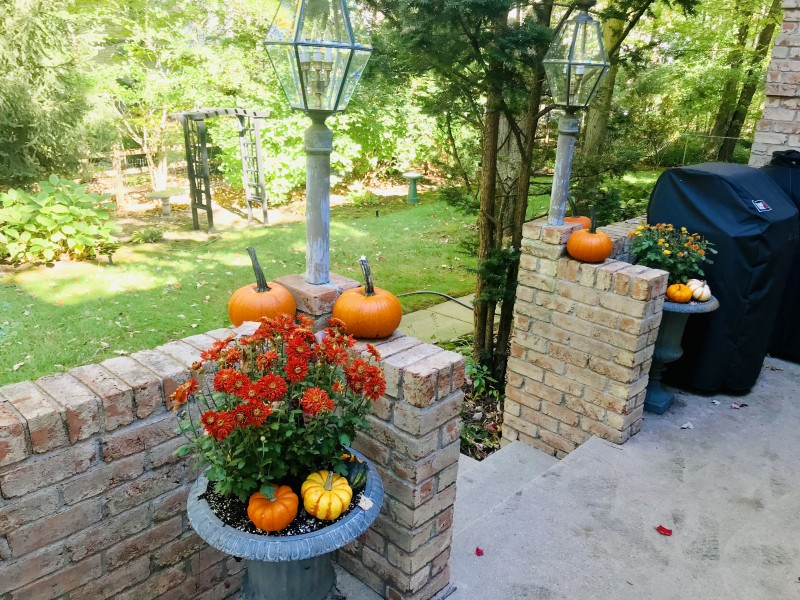 Our back porch during the fall.